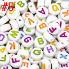 "100/300/500 Mixed Alphabet /Letter ""A-Z"" Acrylic Spacer Beads 7mm"