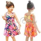 NEW Girls Kids Princess Flower Floral Skirt Top Tunic Dress Party Clothes SZ 2-6