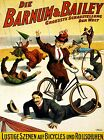 3497.German Bicycles run over show circus POSTER.School Home Room Art decoration