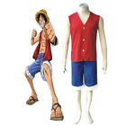 COSTUME ONE PIECE MONKEY D LUFY CAPPELLO PAGLIA CARNEVALE COSPLAY TRAVESTIMENTO