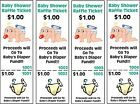 24 Baby Shower Diaper Raffle Tickets! Baby Shower Game - Tickets - DIAPER FUND!