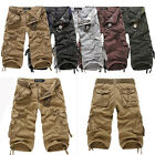 No Belt Men's Cotton Hobo Boys Summer Cool Pants Shorts Relaxed Cargo Shorts R53