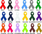 "Lot of Awareness Ribbon Vinyl Decals Stickers 2"" - 5"" U CHOOSE COLOR car cancer"