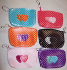 GIRLS / CHILDRENS COIN PURSE WITH LOVE HEART,GREAT PARTY FAVOURS / BAGS OR GIFT