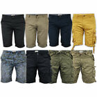 mens Brave Soul combat cargo shorts cotton casual drawcord summer bottoms