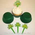 St Patricks Day Cupcake Toppers, Cupcake Cases & Ribbons