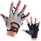 Weightlifting gym exercise fitness training mitts gel padded fingerless gloves