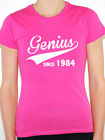 GENIUS SINCE 1984 - Birth Year /Birthday Gift / Novelty Themed Women's T-Shirt