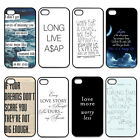 Live Quotes For iPhone 4 4S 5 5G 5S 5C Hard Slim Plastic Case Back Skin Cover