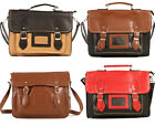 New Ladies Satchel Across Body Bag Leather Style Handbag The Fashion Designer