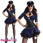 Ladies Navy Blue Cops Police Uniform Halloween Party Fancy Dress Costume Outfit