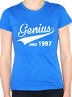 GENIUS SINCE 1997 - Birth Year /Birthday Gift / Novelty Themed Women's T-Shirt