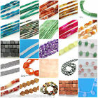 16 Inch Semi Precious Gemstone Heart Cube Rectangle Drop Beads