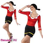 Women Olive Oyl Popeye Halloween Fancy Dress Costume Halloween Party Outfits