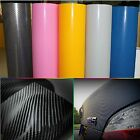 "60""x24""152x60cm 4D Carbon Fiber Car Vinyl Wrap Sticker Self-adhesive Wall Paper"