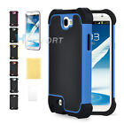 Heavy Duty Hybrid Rugged Hard Case Cover for Samsung Galaxy Note2 II N7100 +Film
