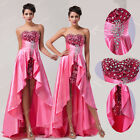 Stock Women Sequins Long Maxi Ball Ggown Wedding Evening Formal Party Prom Dress
