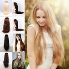 "9 Sizes 14""-30"" Women AAAA 100% Real Silky Remy Indian Hair Human Full Lace Wigs"