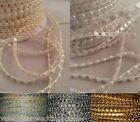 4mm Flatback Pearls String Beads Sewing Trim Cake Craft Wedding Bridal