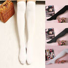 Fashion Long Socks Thigh Cotton Stockings Over Knee Hose Black Grey Trendy Sexy
