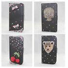 3D bling leather wallet flip diamond case cover Samsung Galaxy s i9000 s2 i9100