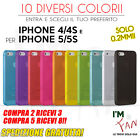 CUSTODIA COVER ULTRA SOTTILE 0.2mm per iPhone 4 4s e 5 5s SLIM TRASPARENTE OPACA