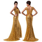 GK Charming Women Sexy Sequins Bridesmaid Gown Wedding Evening Prom Party Dress
