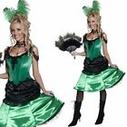 Saloon Girl Costume - Deluxe Sexy Wild West Burlesque Dancer Fancy Dress Outfit
