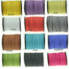12 COLOR 3mm Faux Suede Cord Leather Lace Jewelry Making Beading Thread 10-100yd