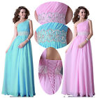 New Chiffon One Shoulder Evening Dresses Bridesmaid Dresses Prom Dress Size 2-16