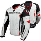 Scorpion CA Clutch White / Red Leather Motorcycle Riding Jacket