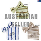 EBC1A19 Bow Tie Cuff Hanky Set Striped Manufacturers Presents Idea Epoint