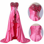 Layer Ruffles Formal Bridesmaids Prom Evening Gown High Low Party Birthday Dress