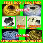 3528 300/600 SMD LED Strip Streifen Band Leiste Weiß Warm Neutral Dimmer Trafo