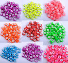 20pcs Silver Buckle Acrylic Plastic beads European Charm Fluorescent beads 14MM
