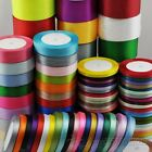 "25Yard/1roll Mix Color/Size Satin Ribbon From1/4"" to 2"" Craft Wedding R001-R182"