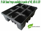 9 Cell Plant Bedding Trays Bulbs Seeds Greenhouse Allotment Herbs Growing Grow