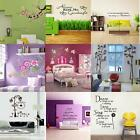 DIY Removable Art Vinyl Quote Wall Sticker Decal Mural Home Room Decor HOT SALE