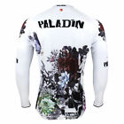 New Flower Printed Mens Long Sleeve Cycling Jerseys Bike Clothing Rider Apparel