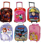 Kids Disney Character Wheeled Trolley Bag Suitcase Set Holiday Sleepover New