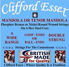 CLIFFORD ESSEX MANDOLA/TENOR STRINGS. HEAVY GAUGE 5 COURSE MANDOLA. BRITISH MADE