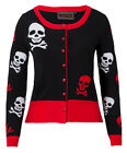 NEW JAWBREAKER BLACK RED WHITE SKULLS GOTHIC EMO GOTH CARDIGAN 10-16