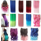 1pcs Lady Cosplay Neon Straight Curly Synthetic Hair Extension Clip-On
