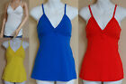 LOVE ALWAYS JR TOP BLOUSE TANK CAMI NEW BLUE,WHITE,RED, or YELLOW JERSEY KNIT