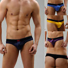 Men's Hot Sexy Sheer Pouch See Through Mesh Low Rise T-back Briefs Underwear