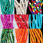 Howlite Turquoise Gemstone 4mm Round Loose Beads Spacer 15.5'' Strand MBG135