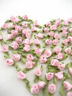 10ps pink ribbon Flower Sew On Appliques nice flower clothes hairpin trimming