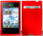 RED Silicone Skin Soft Gel Case for LG Optimus Dynamic L38C / L38G