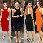 Newest Sexy Backless Womens Midi Bodycon Cocktail Party Dress Pencil Tunic Dress