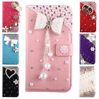 Pretty For Samsung Galaxy S5 SV i9600 Bling Wallet Flip Leather Hard Case Cover